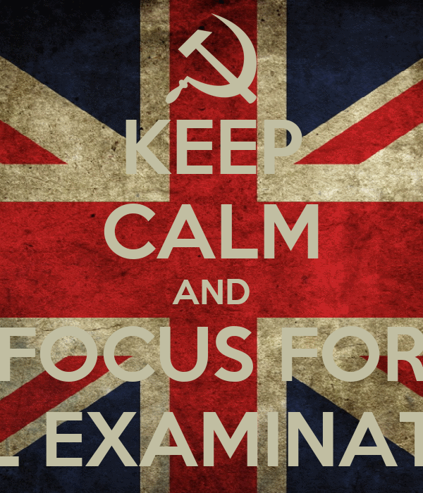 KEEP CALM AND FOCUS FOR FINAL EXAMINATIONS
