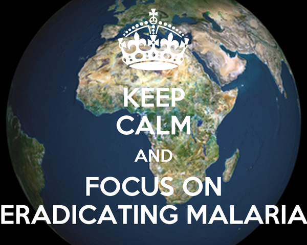 KEEP CALM AND FOCUS ON ERADICATING MALARIA