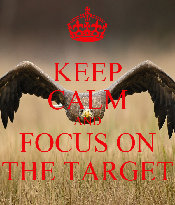 KEEP CALM AND FOCUS ON THE TARGET