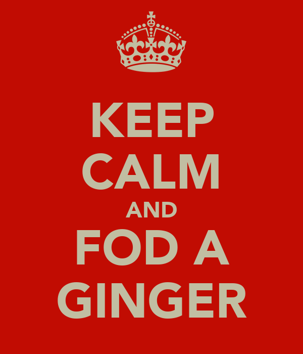 KEEP CALM AND FOD A GINGER