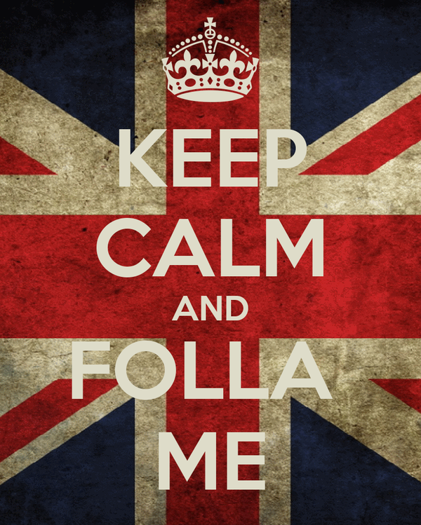KEEP CALM AND FOLLA  ME
