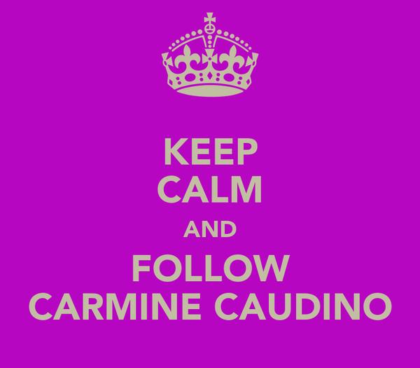 KEEP CALM AND FOLLOW CARMINE CAUDINO