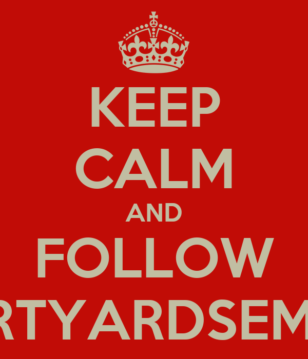KEEP CALM AND FOLLOW #COURTYARDSEMINYAK