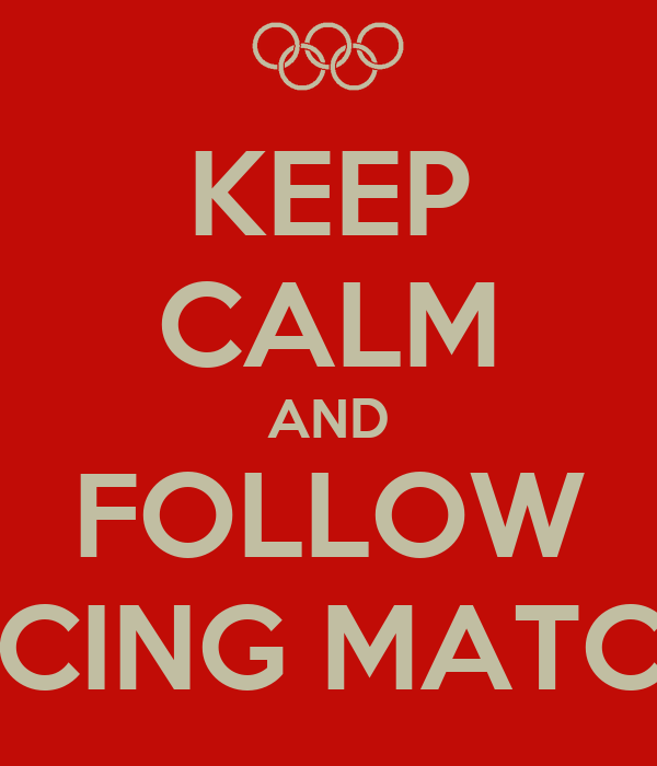 KEEP CALM AND FOLLOW FENCING MATCHES