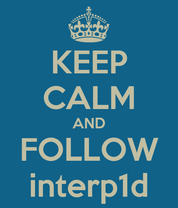 KEEP CALM AND FOLLOW interp1d