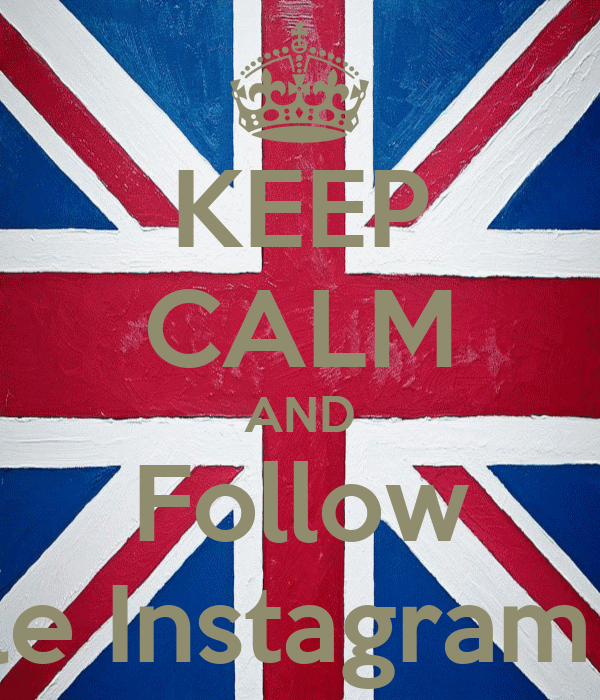 KEEP CALM AND Follow le Instagram