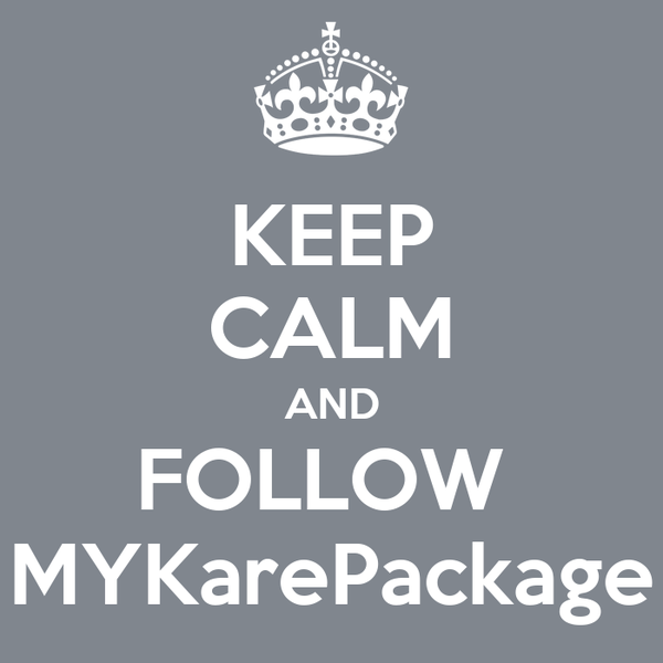 KEEP CALM AND FOLLOW  MYKarePackage
