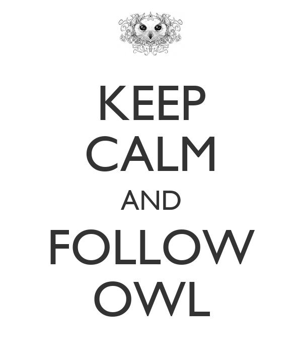 KEEP CALM AND FOLLOW OWL