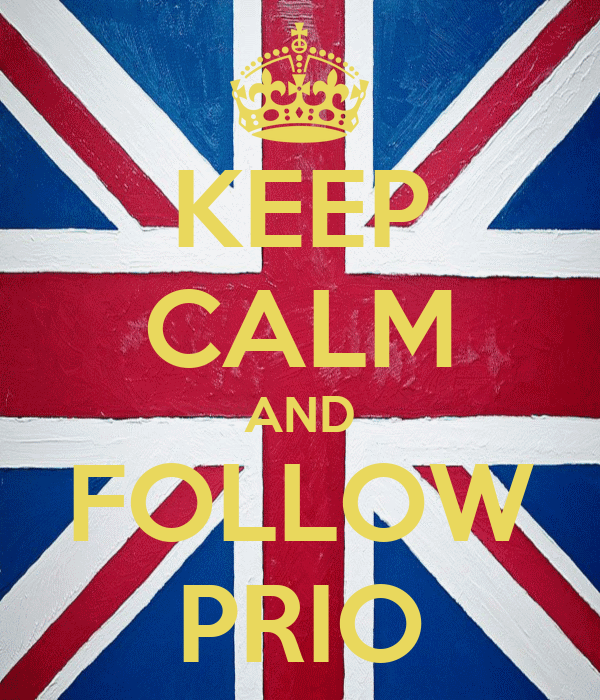 KEEP CALM AND FOLLOW PRIO