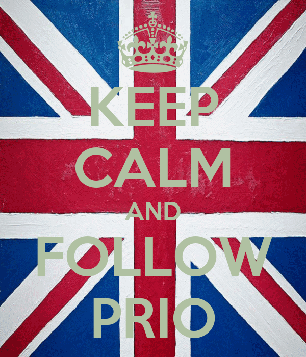 KEEP CALM AND FOLLOW PRIO