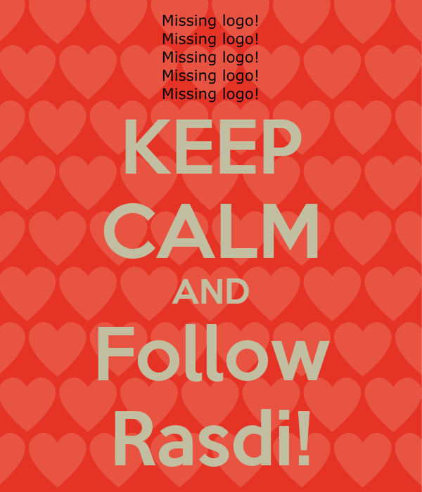 KEEP CALM AND Follow Rasdi!