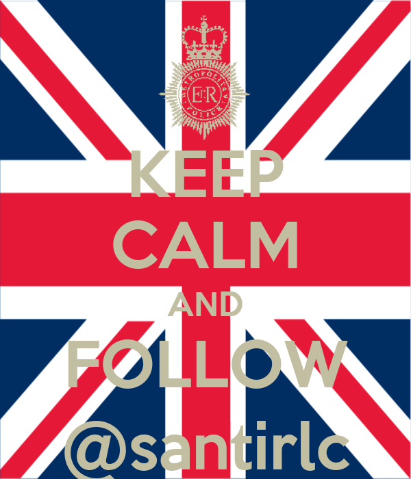 KEEP CALM AND FOLLOW @santirlc