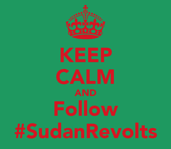 KEEP CALM AND Follow #SudanRevolts
