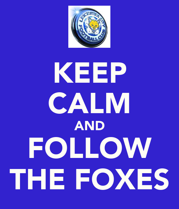 KEEP CALM AND FOLLOW THE FOXES