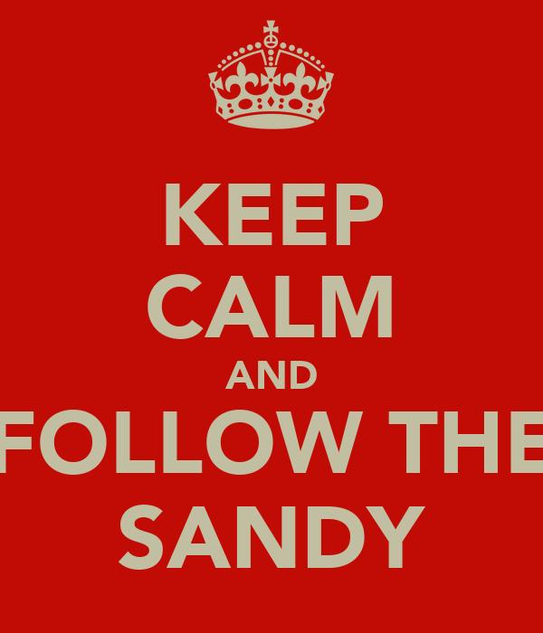 KEEP CALM AND FOLLOW THE SANDY