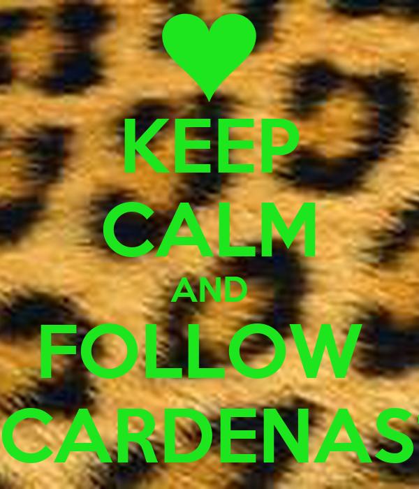 KEEP CALM AND FOLLOW  VCARDENAS11
