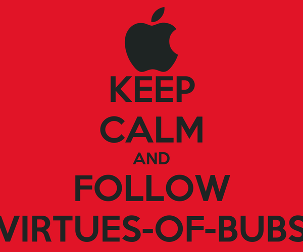 KEEP CALM AND FOLLOW VIRTUES-OF-BUBS