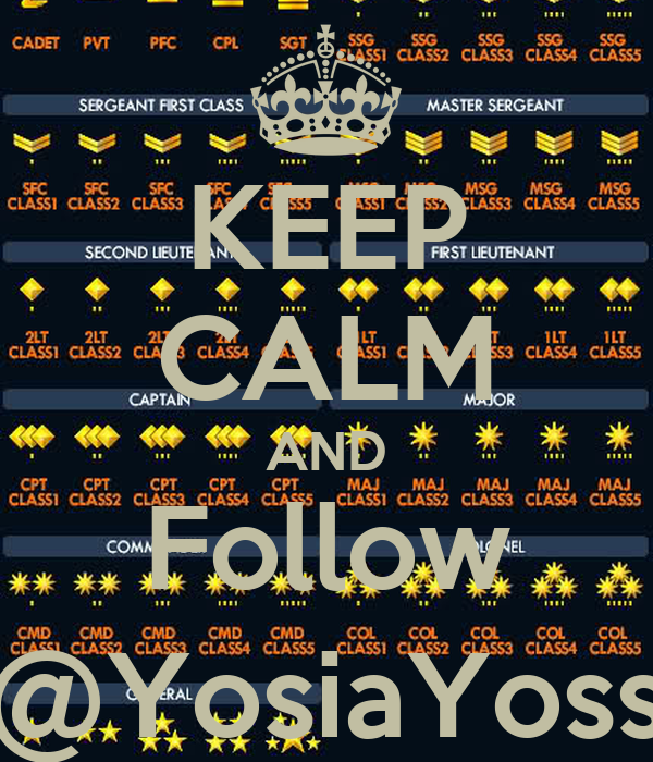 KEEP CALM AND Follow @YosiaYoss