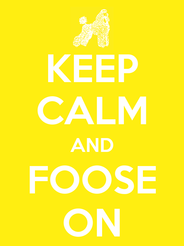 KEEP CALM AND FOOSE ON