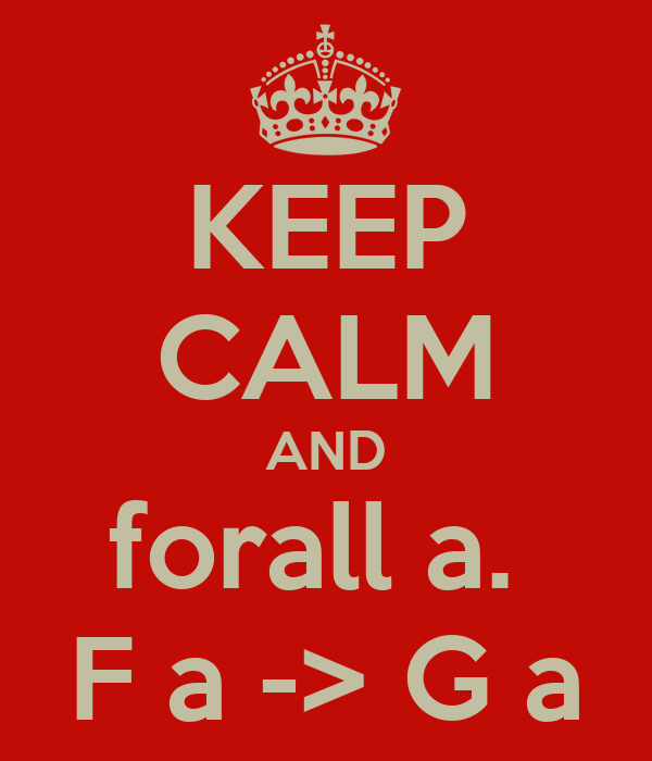 KEEP CALM AND forall a.  F a -> G a