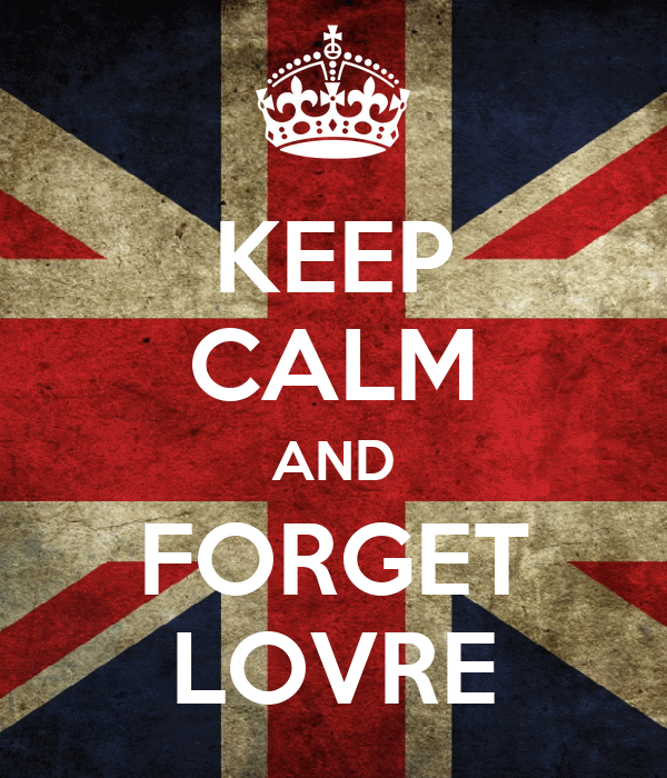 KEEP CALM AND FORGET LOVRE