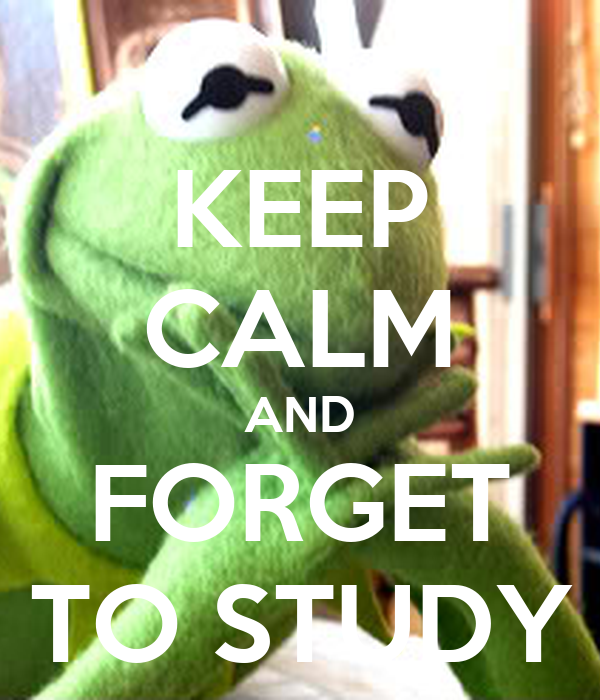 KEEP CALM AND FORGET TO STUDY