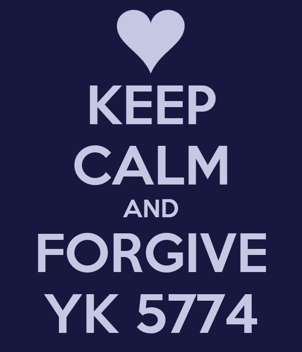 KEEP CALM AND FORGIVE YK 5774