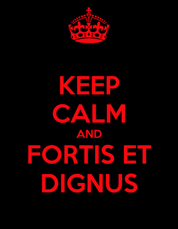KEEP CALM AND FORTIS ET DIGNUS