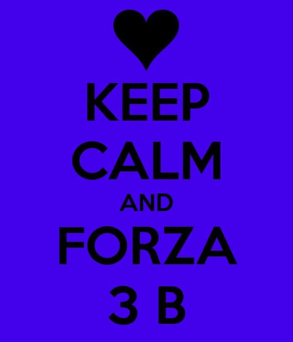 KEEP CALM AND FORZA 3 B