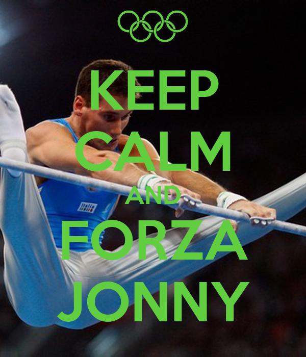KEEP CALM AND FORZA JONNY