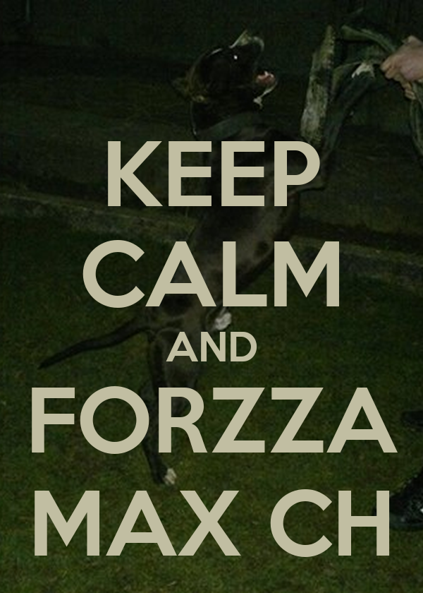 KEEP CALM AND FORZZA MAX CH