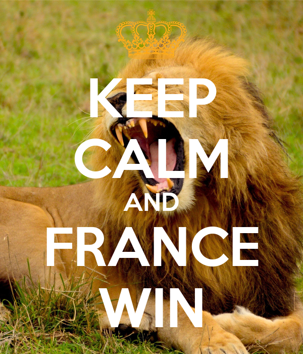 KEEP CALM AND FRANCE WIN
