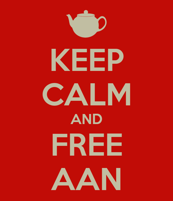 KEEP CALM AND FREE AAN