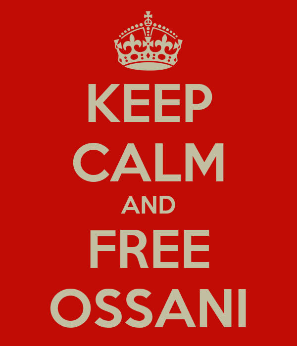 KEEP CALM AND FREE OSSANI
