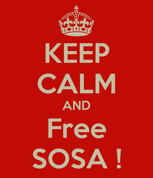 KEEP CALM AND Free SOSA !