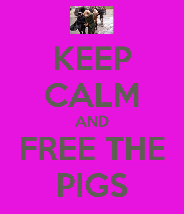 KEEP CALM AND FREE THE PIGS
