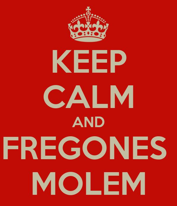 KEEP CALM AND FREGONES  MOLEM