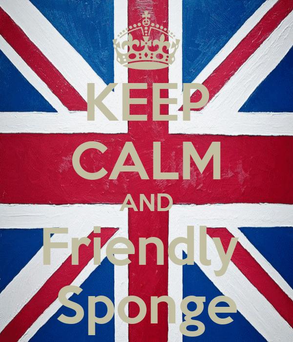 KEEP CALM AND Friendly  Sponge
