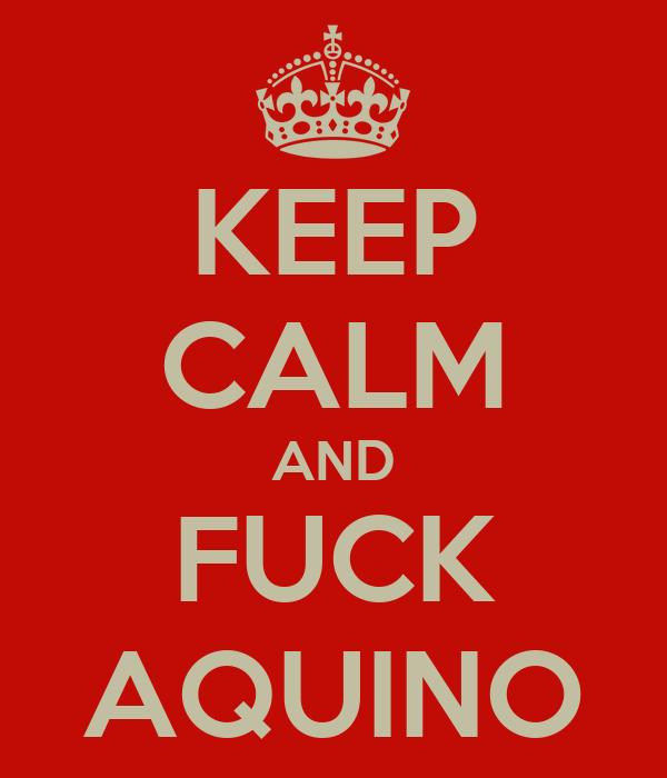 KEEP CALM AND FUCK AQUINO