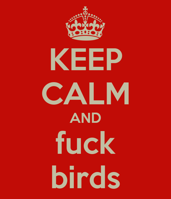 KEEP CALM AND fuck birds