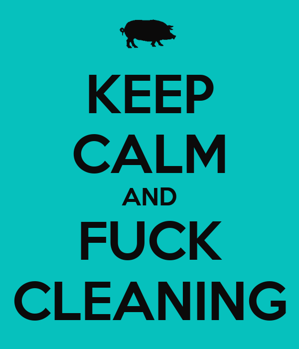 KEEP CALM AND FUCK CLEANING