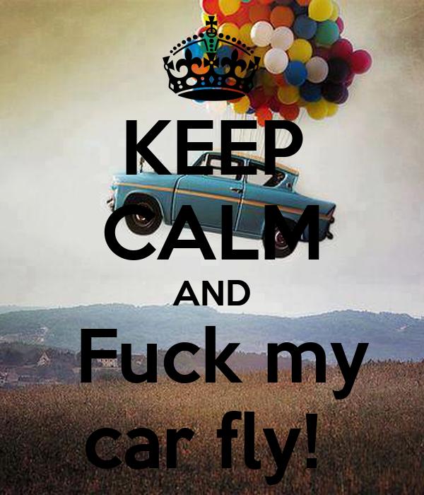 KEEP CALM AND  Fuck my car fly!