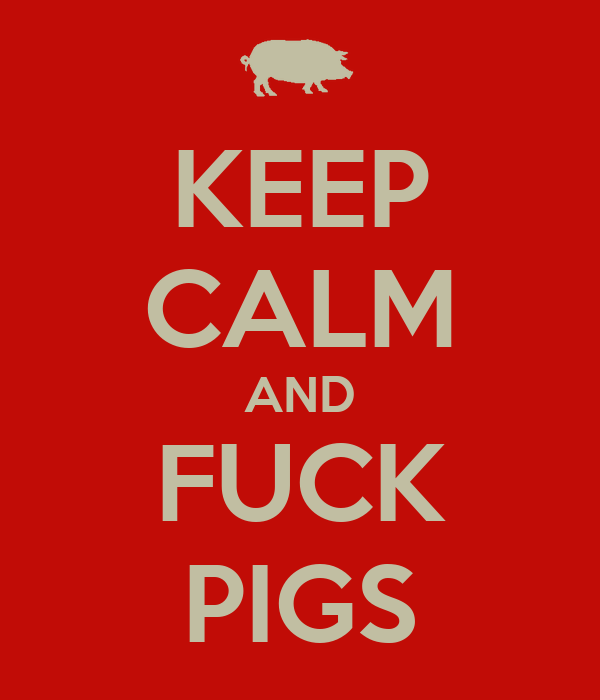 KEEP CALM AND FUCK PIGS