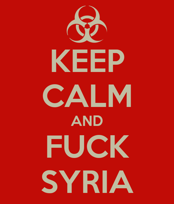 Keep Calm / Fuck Syria