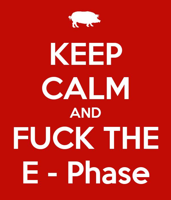KEEP CALM AND FUCK THE E - Phase