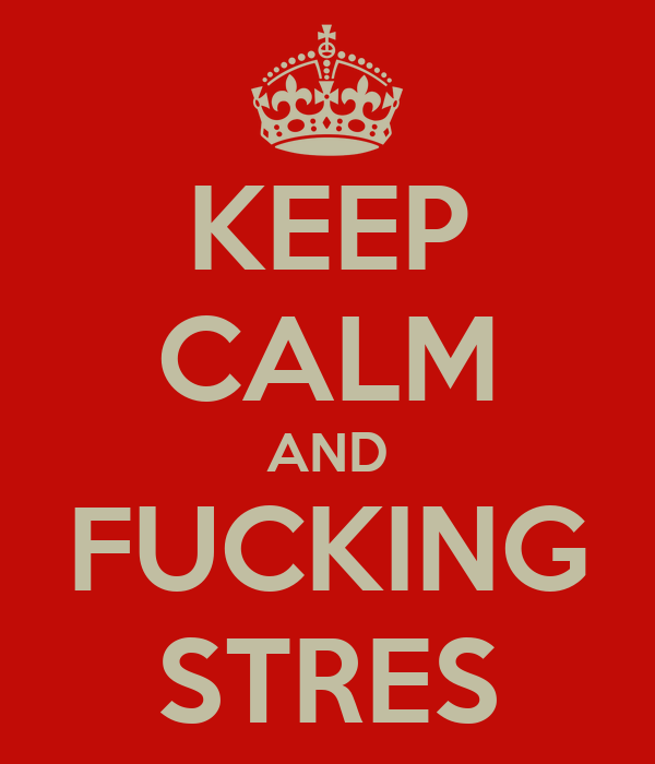 KEEP CALM AND FUCKING STRES
