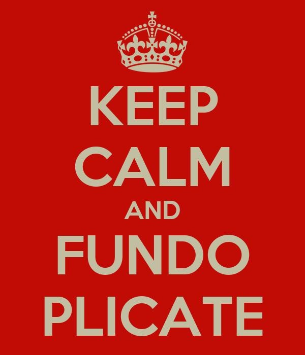 KEEP CALM AND FUNDO PLICATE