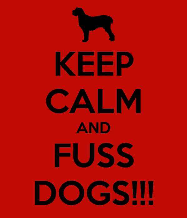 KEEP CALM AND FUSS DOGS!!!