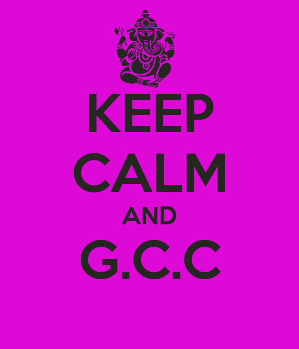 KEEP CALM AND G.C.C