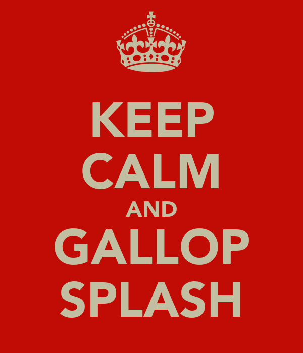 KEEP CALM AND GALLOP SPLASH